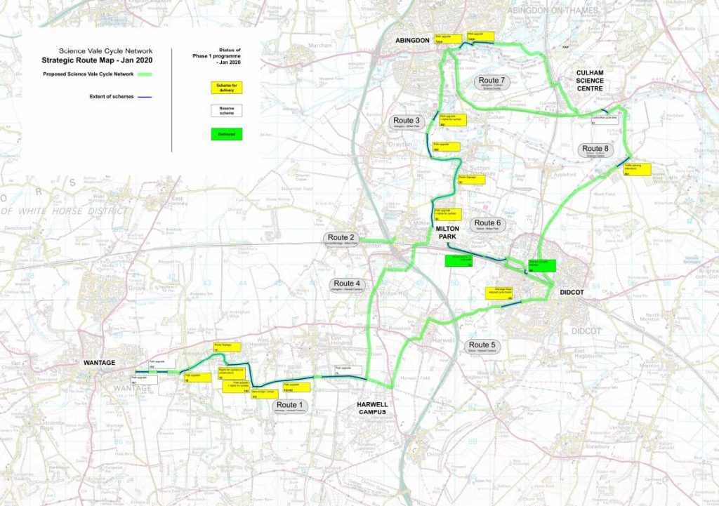 Science Vale Cycle Network strategic route map
