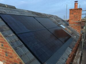 Solar panels on a Harwell roof