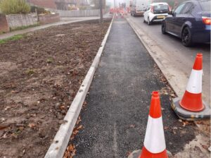 Stepped cycle track Wantage Road, Didcot