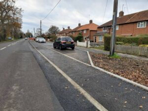New stepped cycle track (approx. 0.9 km) along Wantage Road